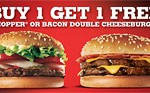 Print Burger King discount vouchers