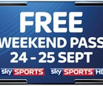 Free Sky Sports weekend 24-25 September