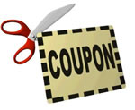 Free food with money off coupons