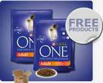 Purina One free cat food sample