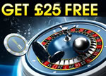 25 free William Hill no deposit Casino bonus