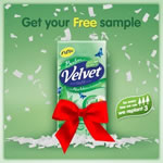 45,000 free samples of Velvet Balm pocket tissues