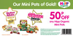 HiPP Organic Mini Pots voucher