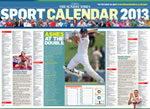 2013 sports calendar