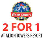 Printable Alton Towers 2 for 1 voucher