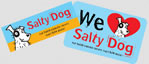Salty Dog window sticker or fridge magnet