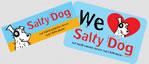 Salty Dog window sticker or fridge magnet