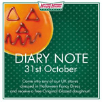 Free Krispy Kreme Original Glazed Donut at Halloween