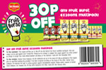 Printable Del Monte Fruit Burst 30p off coupon