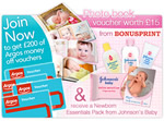 Johnson's Baby newborn essentials vouchers