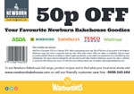 Newburn Bakehouse 50p off voucher