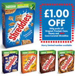 Shreddies £1 off voucher
