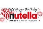 Personalised Nutella jar label