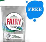 Fairy Platinum dishwasher tablets sample pack