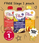 Free Stage 1 Plum Baby pouch voucher