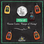 50p printable voucher for Rowse Honey