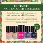 Free Crabtree and Evelyn nail varnish exchange